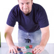 Royalty-Free Stock Photo: Man with a Royal Flush