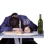 Бизнесмен на его стол сна — Стоковое фото