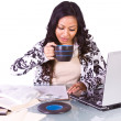 Businesswoman at Her Desk Working — Stock Photo