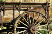 Old Antique Wagon Wheel — Stock Photo