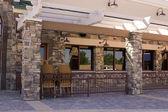 Closed Restaurant Patio — Stock Photo