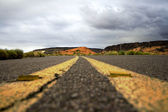 Close up on a road in Snow Canyon — Stock Photo