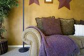 Trendy Modern Living Room — Stock Photo