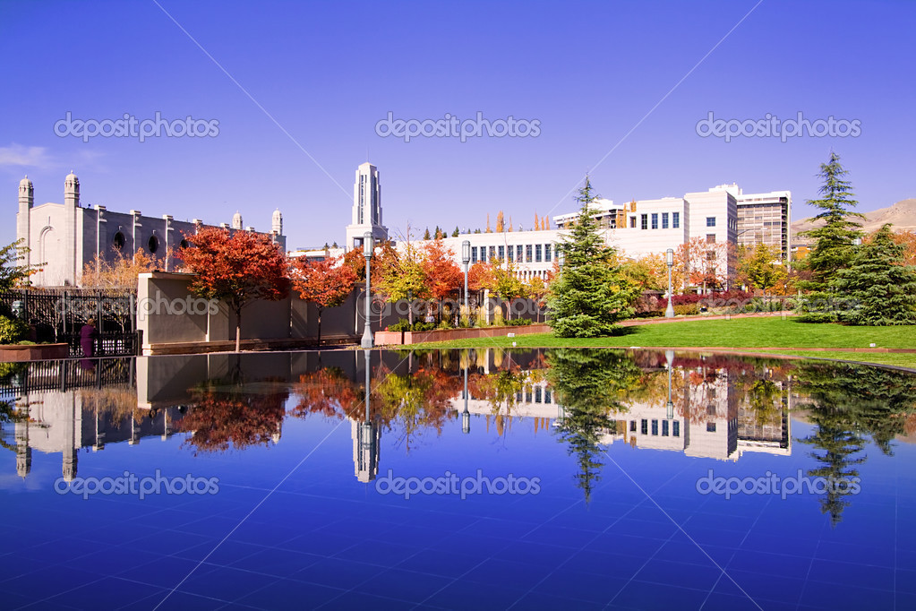 Mormon Temple Squae in Fall - Salt Lake City, Utah — Stock Photo #2714081