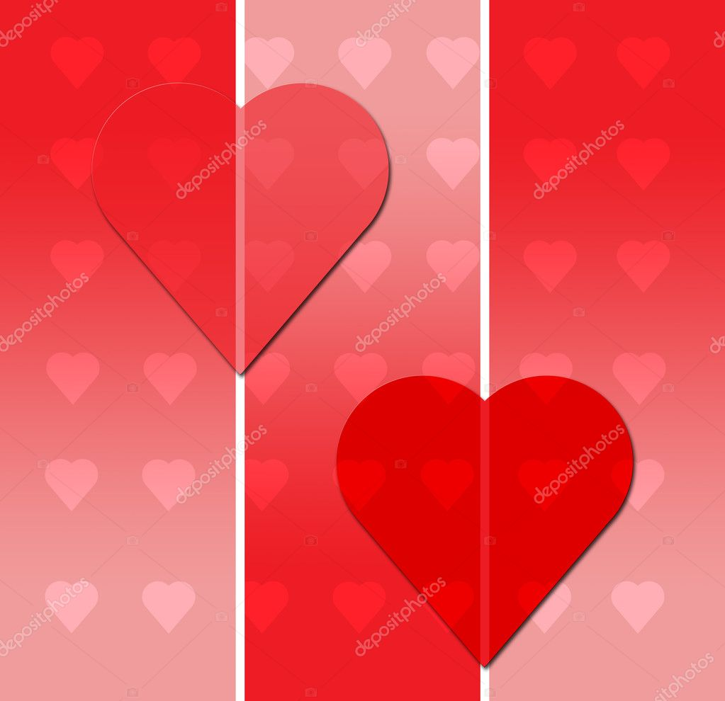 Valentines Day Postcard with Hearts — Stock Photo #2716600