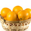 Basket of Oranges - Stock Photo
