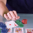 Man Going all in with Royal Flush — Stock Photo #2733604
