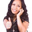 Beautiful Girl Giving the Thumbs Up - Foto de Stock