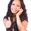 Royalty-Free Stock Photo: Beautiful Girl Giving the Thumbs Up