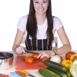 Cute Teenager Preparing Food — Stock Photo