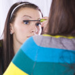 Teenager Putting on Make Up — Stock Photo #2745841