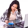 Stock Photo: Businesswoman at Her Desk Working