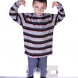 Little Boy Showing His Muscles — Stock Photo #2746359