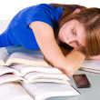 College Student Sleeping on her Desk — Stock Photo #2747324