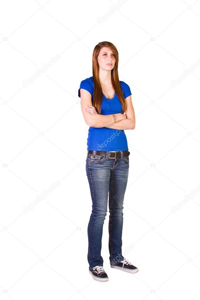 Naked teenage girl standing up sympathise