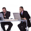 Stock Photo: Businessmen Working Together