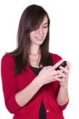 Beautiful Girl Texting — Stock Photo