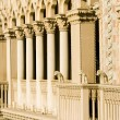 Venetian Style Balcony Columns - Stock Photo