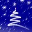 Christmas Background with Ornaments — Stock Photo