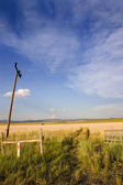 Open Gate to a Field in Helena — Stock Photo