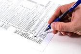 подготовка налоги — Стоковое фото