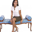 Woman Sitting on a Chair — Stock Photo #2783832