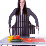 hermosa chica preparando la comida — Foto de Stock   #2838021