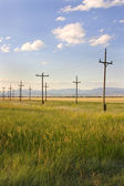 Field in Helena with Clouds — Stock Photo