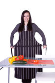 Beautiful Girl Preparing Food — Stock Photo