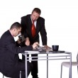 Businessmen Signing a Contract — Stock Photo