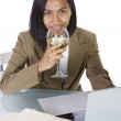 Businesswoman at Her Desk Working — Stock Photo #2845119