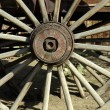 Old Antique Wagon Wheel - Stock Photo
