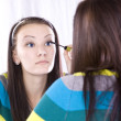 Teenager Putting on Make Up — Stock Photo #2862840