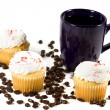 Isolated Coffee Mug with Cupcake — Stock Photo #2862877