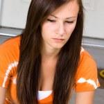 Teenage Girl Sitting Outside — Stock Photo #2862937