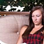 Girl Reading a Book — Stock Photo #2862948