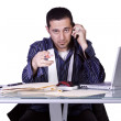 Businessman at His Desk — Stock Photo