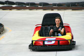 Teenager on the Go Cart — Stock Photo