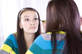 Teenager Putting on Make Up — Stock Photo