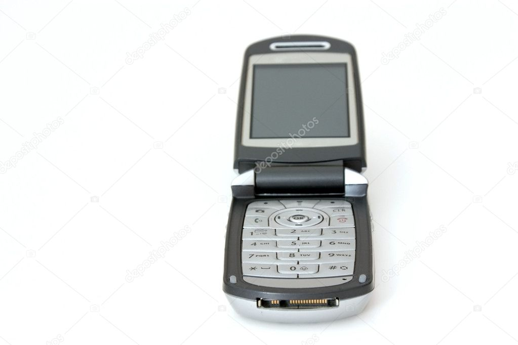 Isolated Celluar Phone with focus on the number pad  Stock Photo #2862497