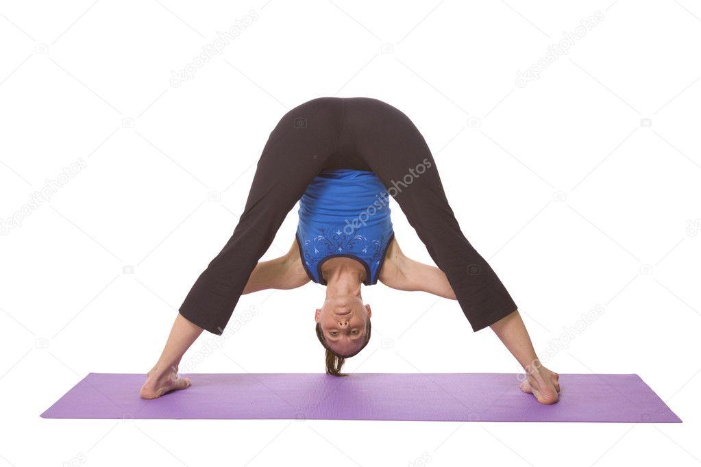 1023 x 682 jpeg 101kB, Woman in Yoga Position — Stock Photo ...