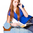 Teenager Talking on the Cell Phone — Stock Photo