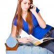 Stock Photo: Teenager Talking on the Cell Phone