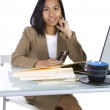 Businesswoman at Her Desk Working — Stock Photo #2873807