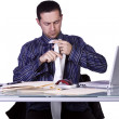Businessman at His Desk Working — Stock Photo