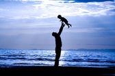 Far och son — Stockfoto