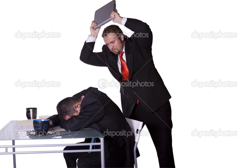 Businessman Getting Rid of His Competition — Stock Photo #2911161
