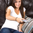Teenage Girl at Home — Stock Photo