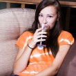 Beautiful Girl Drinking Soda — Stock Photo #2957974