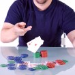 MThrowing Cards on Table — Stock Photo #2958084